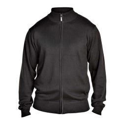 D555  LIGHTWEIGHT FULL ZIP SWEATER  MILBURN BLACK