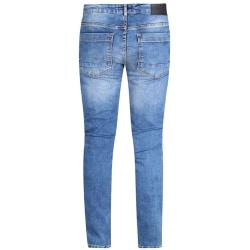 "D555 Couture Stretch Jeans with Abrasions and Rips BOXWELL - STONEWASH  42 - 56"" S/R"