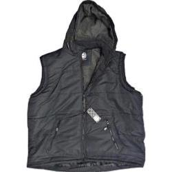 SALE- KAM Fleece lined Padded Body Warmer with Hood BLACK 4XL