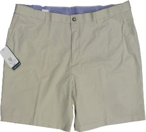 "SKOPES Peached Cotton Shorts with  Comfort Stretch Waist BUDE STONE  50"" Waist  / 3XL"