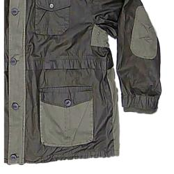 KAM Dry Wax feel Barbour Style Jacket with hood OLIVE 3 - 7XL