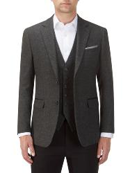 "SKOPES  TRADITIONAL HERITAGE  WOOL BLEND HERRINGBONE JACKET CHARCOAL KINLOCH 50 - 66"" CHEST S/R"