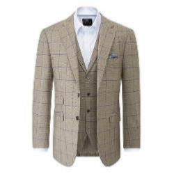 SKOPES Bevington Check Sports jacket BROWN