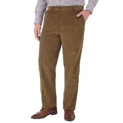 "SALE - SKOPES CORDUROY TROUSERS WITH ACTIVE WAIST CARAMEL  44 - 56"" SHORT AND REGULAR"