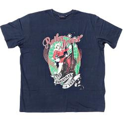 ESPIONAGE Vintage Print Seasonal Tee ROCKIN - NAVY 4XL