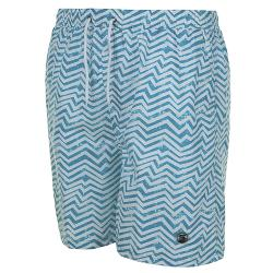 SALE - ESPIONAGE ZIG ZAG PRINT SWIM SHORT  2 - 8XL
