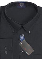 "ESPIONAGE Cotton rich Long Sleeve shirt BLACK 2 - 8XL (18 - 24"" Collar)"