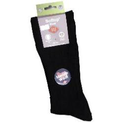 HJ HALL The Original Soft Top Wool sock BLACK