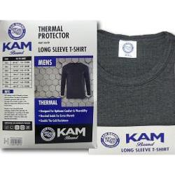 KAM Thermal Long sleeve T-Shirt  WHITE