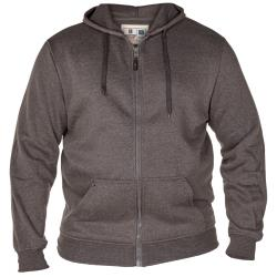 Duke ROCKFORD Full Zip Hooded Sweatshirt CANTOR GREY 3 - 8XL