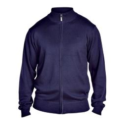 D555  LIGHTWEIGHT FULL ZIP SWEATER  MILBURN NAVY