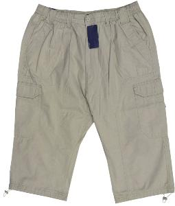 ESPIONAGE Ripstop Cotton Cropped  Cargo trousers STONE