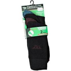 D555 Kingsize Cotton rich Cushion Sole socks 2 Pair Pack