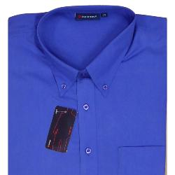 Espionage Long Sleeve Easy Care shirts with button down collar ROYAL BLUE 2XL