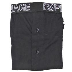 ESPIONAGE Twin Pack Jersey Trunks with branded Waistband STRIPED / BLACK 2 - 8XL