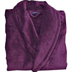 Espionage Fleece Dressing Gown BURGUNDY 3 - 8XL