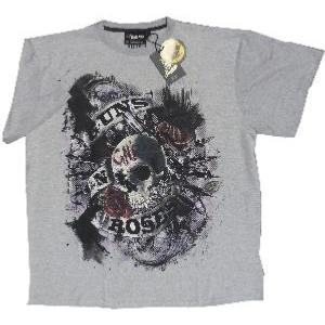 REPLIKA JEANS Licensed Music Legend Tee GUNS N ROSES GREY 2XL