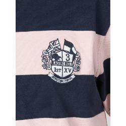 RAGING BULL RUGBY -  Broad Stripe Short Sleeve Rugby Shirt PINK/NAVY 3 - 6XL