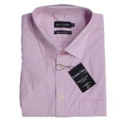 Double Two Non-Iron Cotton Rich Short Sleeve Shirt PINK