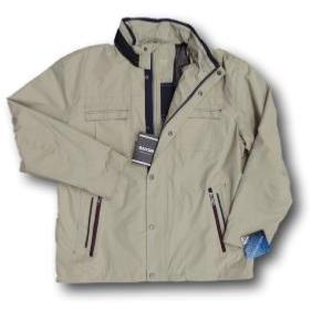 SAXON Showerproof Lightweight Jacket  with concealed hood COMO STONE 3 - 4XL