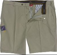 OAKMAN Comfort Stretch Sulpher Washed Cotton Shorts NATURAL