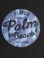 ESPIONAGE Cotton Print Tee PALM BEACH BLACK 2 - 8XL