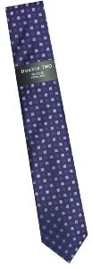 DOUBLE TWO Extra Long Patterned Tie LILAC/PURPLE