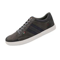D555 KING SIZE MENS LACE UP SHOES WITH CONTRAST TRIM DARIAN GREY UK 12 - 15