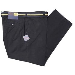 "OAKMAN Casual Cotton Twill Soft touch Chino with belt BLACK 44 - 56"" S/R"