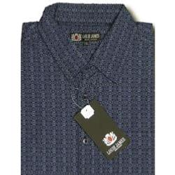 LOUIE JAMES Cool Cotton Summer Printed Shirt NAVY