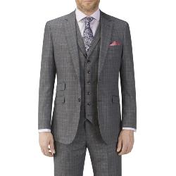 SKOPES HERITAGE CHECK SUIT JACKET GREY/BLUE WARLEY