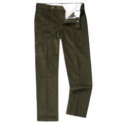 "SKOPES CORDUROY TROUSERS WITH ACTIVE WAIST OLIVE 48 - 56"" SHORT AND REGULAR"