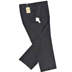 SALE CHINOS - OAKMAN Active Stretch Chambrey Washed Chino with Lycra WASHED BLACK 44""