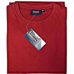 ESPIONAGE  PURE COTTON CREW NECK TEE SHIRT RED 2 - 8XL
