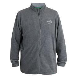 D555 KINGSIZE FULL ZIP LIGHTWEIGHT  CASUAL FLEECE MACKENZIE GREY 3 - 6XL
