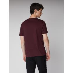 GENUINE BEN SHERMAN CLASSIC SPADE POCKET TEE BURGUNDY 2 - 5XL