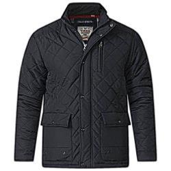 D555  FLEECE LINED QUILTED COAT JUSTIN