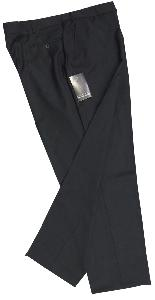 HUGO JAMES Wool Blend Single Pleat Trouser BLACK