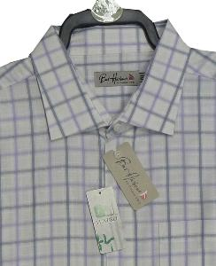 Bar Harbour BAMBOO Check shirt LAVENDER