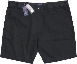 ED BAXTER Cotton Walking Short with comfort FLEX waistband BLACK