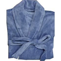 Espionage Fleece Dressing Gown DENIM BLUE 3 - 8XL