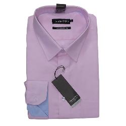 "DOUBLE TWO  COTTON RICH LONG SLEEVE OXFORD SHIRT PINK 19 - 23"" COLLAR / 3 - 7XL"