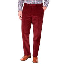 "SKOPES CORDUROY TROUSERS OXBLOOD 44 - 58"" SHORT AND REGULAR AND LONG"