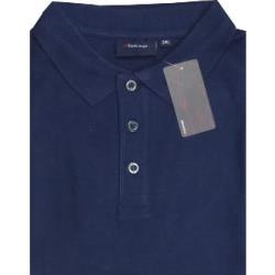 SALE - ESPIONAGE Plain Polo Shirt NAVY 6 - 8XL
