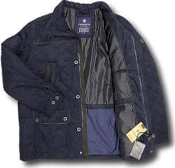 REDPOINT Sueded Quilt Coat NAVY