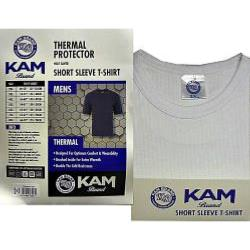 KAM Thermal King Size Short sleeve T-Shirt WHITE