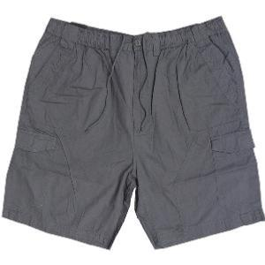 ESPIONAGE Ripstop Cotton Cargo Shorts GREY