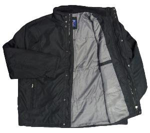 DUKE Quilted Black Jacket KIAN 4XL