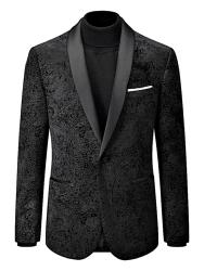 "SKOPES Soft Touch Paisley Jacket with Satin  Collar WESTWOOD BLACK 52 - 62"" Short and Regular"