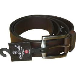 Genuine Leather Belt Wide 38mm BROWN